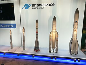 Arianespace - Mockups of all the vehicles of Arianespace, including the future Ariane 6