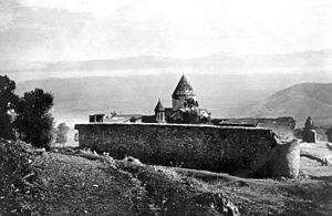 Battle of Holy Apostles Monastery - Early 20th century photograph of Holy Apostles Monastery, where the battle took place.
