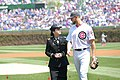 Army Reserve soldier is honored at Chicago Cubs Mother's Day game (2579763).jpg