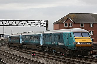 Transport for Wales Rail Services - Image: Arriva Trains Wales DVT at Cardiff Central by Jeremy Segrott