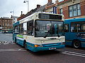 Arriva bus 1794 Dennis Dart SLF Plaxton Pointer W631 RNP in Darlington 5 May 2009.JPG
