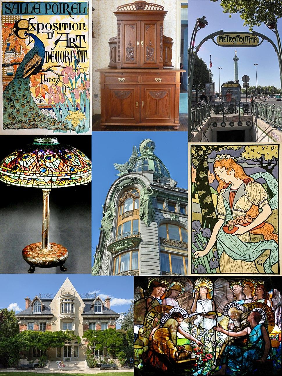 Art Nouveau composition