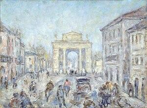 Carlo Martini - La città di Crema, 1950, Art collections of Fondazione Cariplo