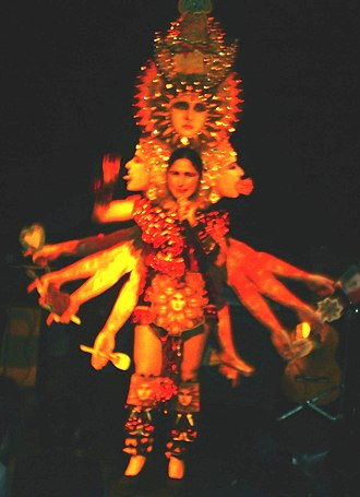 Astrid Hadad - Dressed as a multi-limbed goddess (2006).