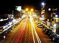 At road view from Chowk Bazar foot bridge, Jorhat.jpg