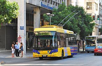 ILPAP - Image: Athens Neoplan N6216 trolleybus 8073