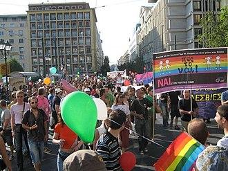 [Επεξεργασία] Gay pride στην Ελλάδα. [Επεξεργασία] Οι δεκαετίες '80 και '90