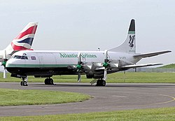Lockheed L-188 Electra der Atlantic Airlines