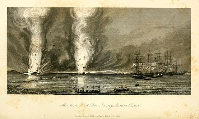 Battle of First Bar on the Canton River during the 1st Opium War