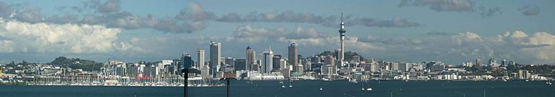 View of Auckland CBD from North Shore