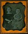 Augusta Melinda and Albert Gold, Cousins of Abbie Diantha and Celia Josephine Gold, Daugerreotype, Circa 1850 (13037117185).jpg