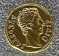 Augusto, aureo con toro cozzante, recto.JPG