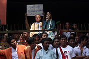 Aung San Suu Kyi speaking to supporters at National League for Democracy (NLD) headquarter.jpg