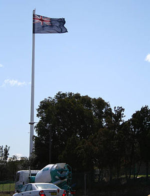 Rydalmere, New South Wales -  Giant Australian flag on Victoria Road, removed 2011