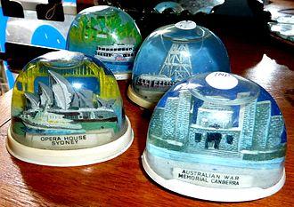 Snow globe - Plastic Australian Souvenir Snow Globes.
