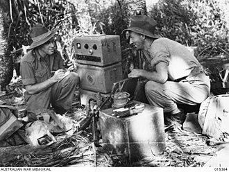 New Guinea Air Warning Wireless - NGAWW signallers  near Nassau Bay, July 1943
