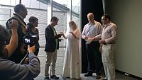 Avner and Darya's wiki Wedding at Wikimania by ovedc 11.jpg