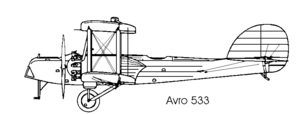 Avro 533 Manchester - Avro 533 Mk 1 (as originally designed)
