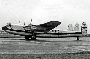 Avro York - BOAC York operating a freight schedule at Heathrow in 1953