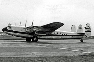 British Overseas Airways Corporation - BOAC Avro York freighter operating a scheduled service at Heathrow in 1953