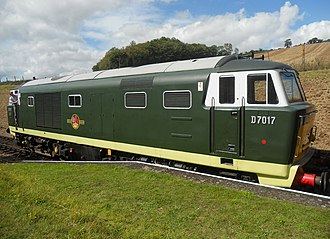 British Rail Class 35 - British Railways Hymek Class 35 D7017 at Washford on the West Somerset Railway