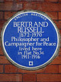 BERTRAND RUSSELL 1872-1970 Philosopher and Campaigner for Peace lived here in flat No.34 1911-1916.jpg