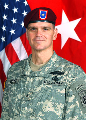 Berets of the United States Army - Then, BG Joe Votel, ACG, 82nd Airborne Division, wearing the maroon beret.