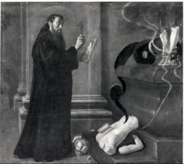 St. Benedict Destroying Idols