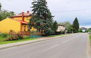 Bramki Village in Masovian, Poland