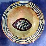 Bacino ceramico da facciata del duomo di s. miniato, nord-africa, 1190 ca. 18.JPG