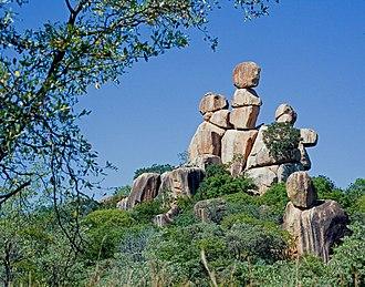 Balancing rock - Mother and Child balancing rocks, Matobo National Park, Zimbabwe