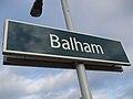 Balham station mainline signage.JPG