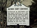 Baltimore County Courthouse Marker Dec 09.JPG