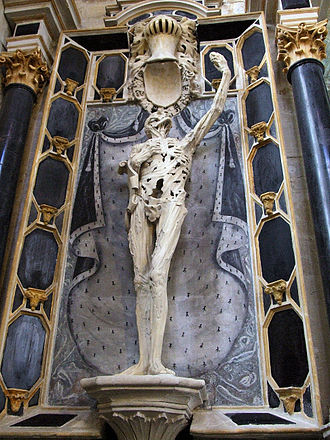 Cadaver Tomb of René of Chalon - Ligier Richier, upper section of the Transi de René de Chalon, c. 1545–47
