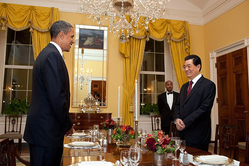 File:Barack Obama and Hu Jintao of China at working dinner in White House on Jan. 18, 2011.jpg