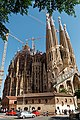 Barcelona - Carrer de Provença - View East on La Sagrada Família - Passion façade.jpg