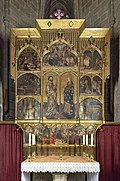 Barcelona Cathedral Interior - Chapel of St. Mary Magdalene, St. Bartholomew and St. Isabella - Guerau Gener 1401.jpg