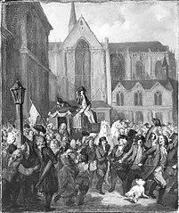 Anno 1787. Burgemeester Dedel wordt in triomf naar huis gebracht