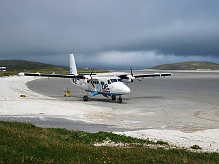 Barra Airport airport located on the island of Barra in the Outer Hebrides, Scotland