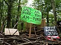 Barrier with protest-signs in the Hambach forest 10.jpg