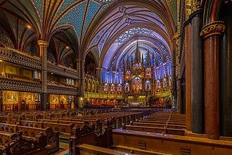 Notre-Dame Basilica (Montreal) - Inside of Notre-Dame Basilica (Montreal).