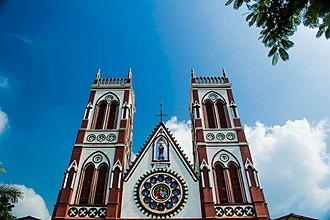 Basilica of the Sacred Heart of Jesus, Pondicherry - The Front View