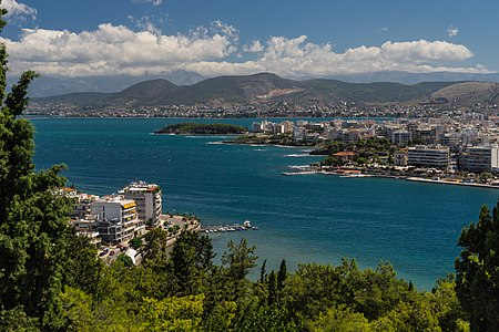 Bay of Chalkida from Karababa castle Greece.jpg