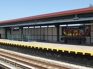 Beach 90th Street - Rky Pk Bound Platform.JPG