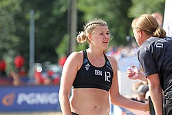 Beach handball Euro 2019 Quarter Final Women DEN-NOR 01.jpg