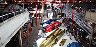 National Motor Museum, Beaulieu - National Motor Museum, Beaulieu, main hall.