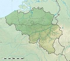 Mapa lokalizacyjna Belgii