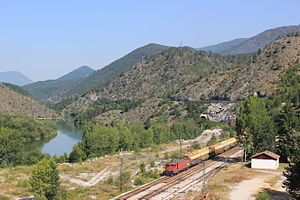 Priboj - Image: Belgrad Bar Railway