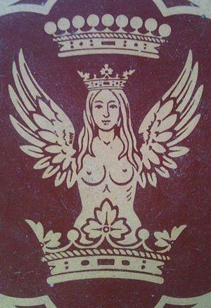 De Salis - From a Mintons' looking c. 1863 floor tile, Wiltshire, UK.