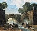 Bemberg Fondation - Paysage au pont - Hubert ROBERT 44.5x54 Inv.1105.jpg